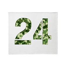 Number 24, Camo Throw Blanket