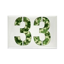 Number 33, Camo Rectangle Magnet
