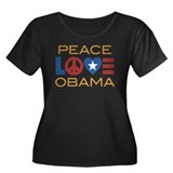 Peace, Love, Obama Women's Plus Size Scoop Neck Da