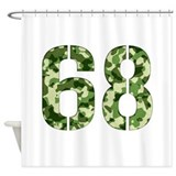 Number 68, Camo Shower Curtain