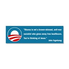 Thinking of Jesus (Pro Obama) Car Magnet 10 x 3