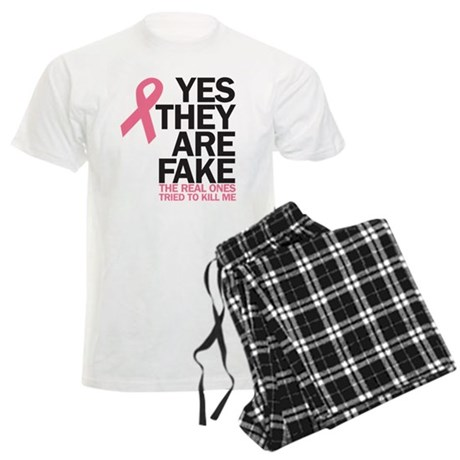 Breast Cancer - tried to kill Men's Light Pajamas