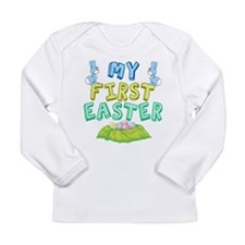 Cute Easter basket Long Sleeve Infant T-Shirt