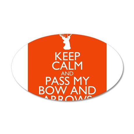 pass my bow and arrows orange 22x14 Oval Wall Peel