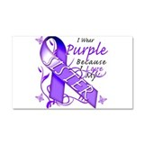 I Wear Purple I Love My Siste Car Magnet 20 x 12