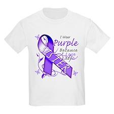 I Wear Purple I Love My Siste T-Shirt