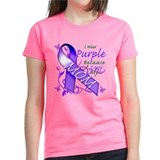 I Wear Purple I Love My Mom Tee