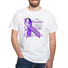 I Wear Purple I Love My Husba Shirt