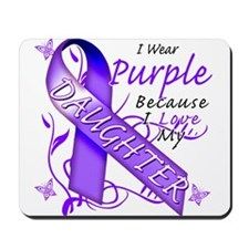I Wear Purple I Love My Daugh Mousepad