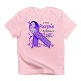 I Wear Purple I Love My Daugh Infant T-Shirt