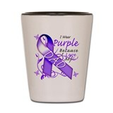 I Wear Purple I Love My Dad Shot Glass