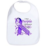 I Wear Purple I Love My Cousi Bib
