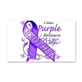 I Wear Purple I Love My Broth Car Magnet 20 x 12