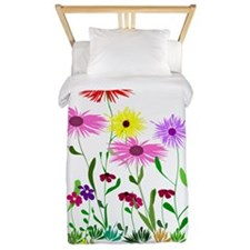 Flower Bunches Twin Duvet