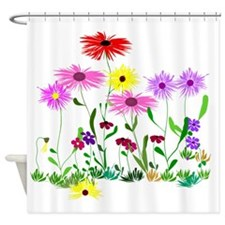 Flower Bunches Shower Curtain