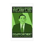 Climate Disappointment Obama bumper sticker