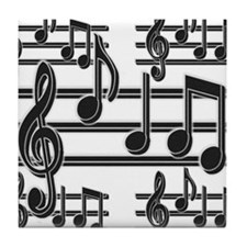 Musical Notes II Tile Coaster