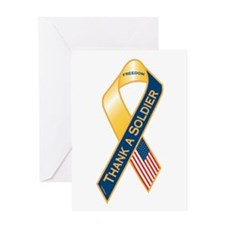 Thank A Soldier Greeting Card