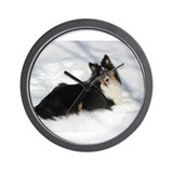 Doberman chat Wall Clock