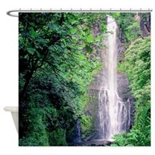 Wailua Falls Maui Tropical Shower Curtain