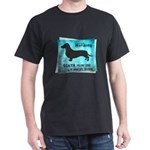 Grunge Doxie Warning Dark T-Shirt