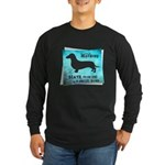 Grunge Doxie Warning Long Sleeve Dark T-Shirt