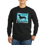 Grunge Doxie Warning Long Sleeve Dark T-Shirt