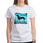 Grunge Doxie Warning Women's T-Shirt