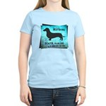 Grunge Doxie Warning Women's Light T-Shirt