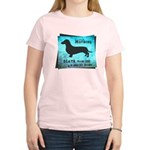 Grunge Doxie Warning Women's Light T-Shirt
