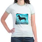 Grunge Doxie Warning Jr. Ringer T-Shirt
