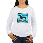 Grunge Doxie Warning Women's Long Sleeve T-Shirt