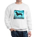 Grunge Doxie Warning Sweatshirt