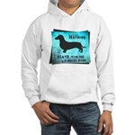 Grunge Doxie Warning Hooded Sweatshirt