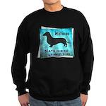 Grunge Doxie Warning Sweatshirt (dark)