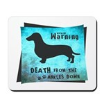 Grunge Doxie Warning Mousepad