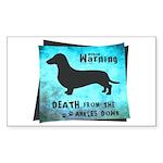 Grunge Doxie Warning Sticker (Rectangle)