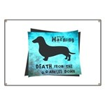 Grunge Doxie Warning Banner