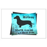 Grunge Doxie Warning Large Poster