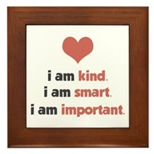 I Am Kind Framed Tile