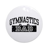 Gymnastics Dad Ornament (Round)