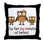 Big Cousin of Twins - Mod Owl Throw Pillow