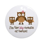 Big Cousin of Twins - Mod Owl Ornament (Round)