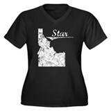 Star, Idaho. Vintage Women's Plus Size V-Neck Dark