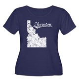 Thornton, Idaho. Vintage Women's Plus Size Scoop N