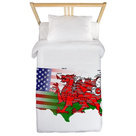 Welsh Placenames USA Twin Duvet
