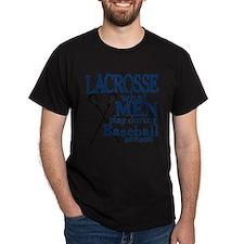 2-men play lacrosse blue T-Shirt
