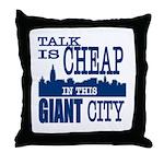 Giant City. Throw Pillow