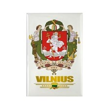 """Vilnius"" Rectangle Magnet (10 pack)"