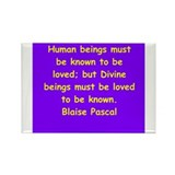 blaise pascal Rectangle Magnet (10 pack)